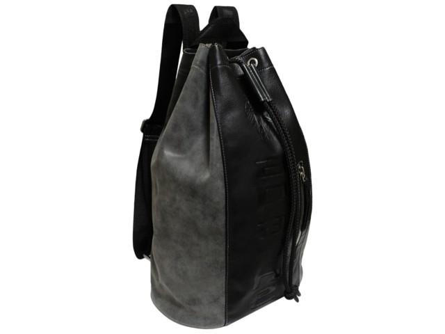 612fb0774bd9 ... производство, продажа, изделия из кожи, заказ кожаных изделий,  Санкт-Петербург, Персон, Person - Сумка мешок-рюкзак из искусственной кожи  С-9614-А серая